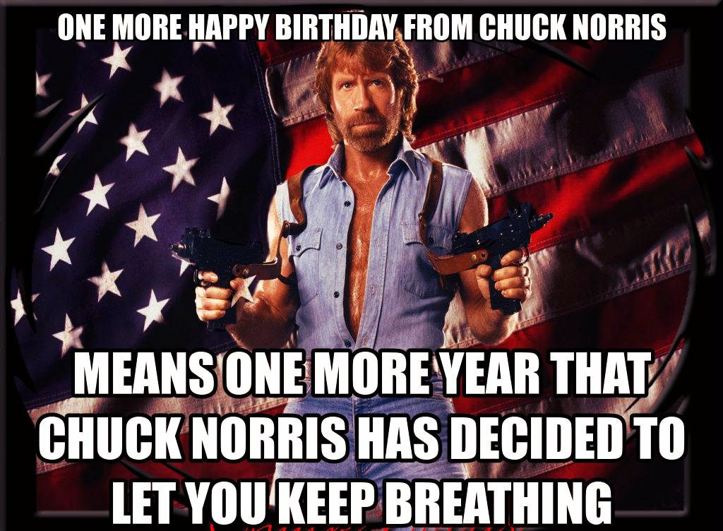 Chuck Norris approves! you can live one more year