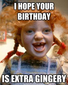 I hope your Birthday is Extra Gingery
